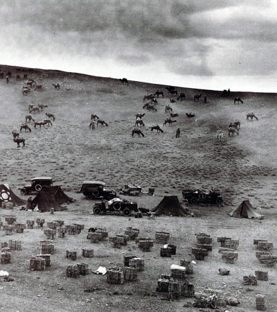 Roy Chapman's camp in Mongolian Gobi